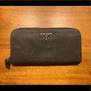 Authentic PRADA Classic Black Nylon Zippy Wallet